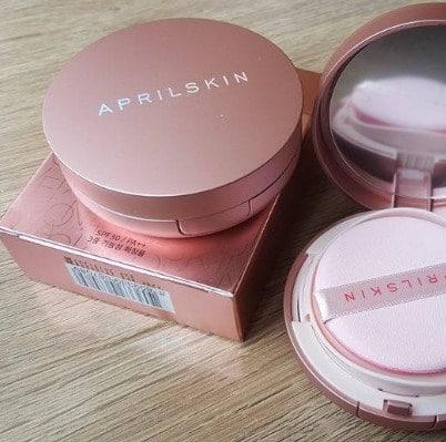 Phấn nước April Skin hồng nhám
