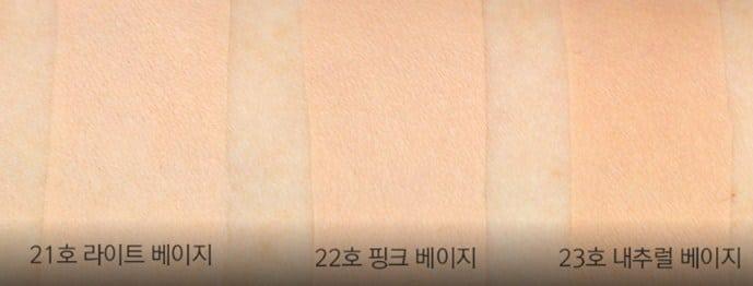Bảng màu Phấn nước April Skin hồng nhám