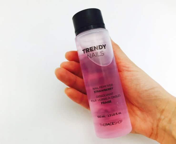Sản phẩm tẩy sơn móng tay Face Shop Trendy Nails Remoever