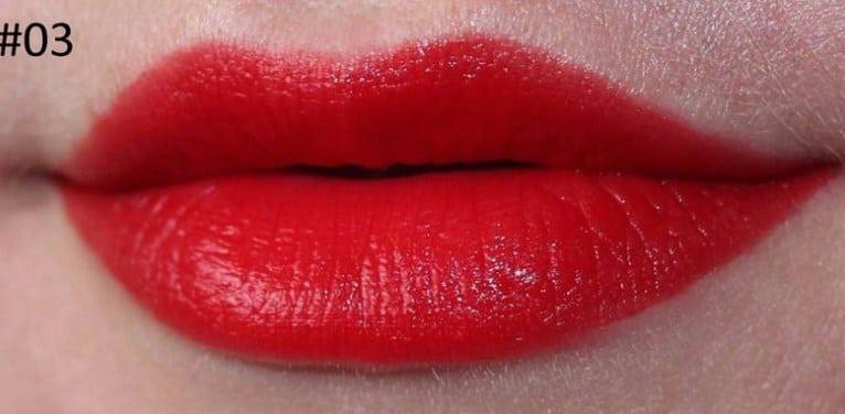 Son Velvet màu 03 đỏ cam