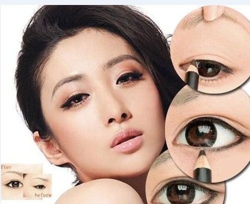 Cách đánh phấn mắt cho dáng mắt sụp