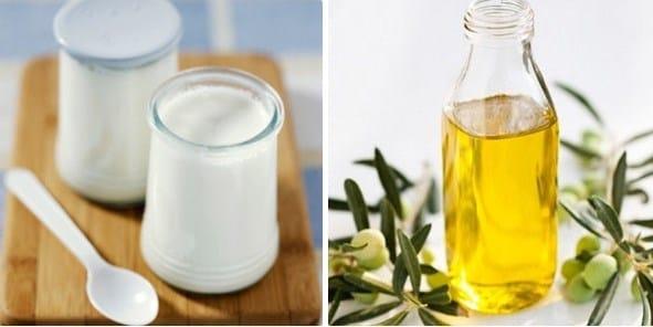 Hỗn hợp dầu oliu và sữa chua không đường có khả năng làm trắng da hiệu quả