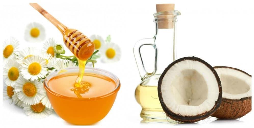 Dầu dừa và mật ông sẽ giúp bạn khắc phục được tình trạng nám và tan nhang