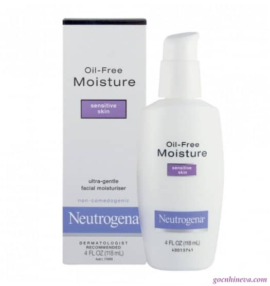 Neutrogena Oil-Free Moisture dưỡng ẩm thích hợp cho làn da nhạy cảm