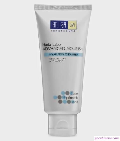 Hada Labo Advanced Nourish – Hyaluron Cleanser dưỡng ẩm làn da