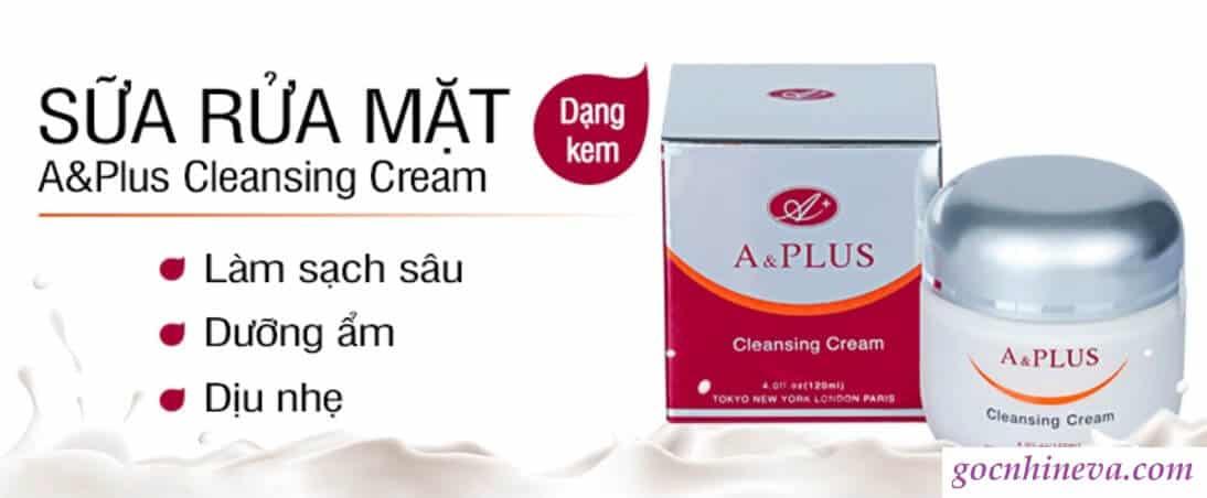 Sữa rửa mặt A&Plus Cleansing Cream dưỡng ẩm tốt cho da khô