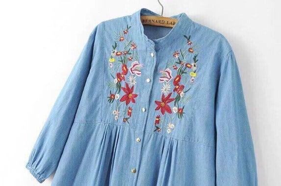 áo thêu họa tiết hoa