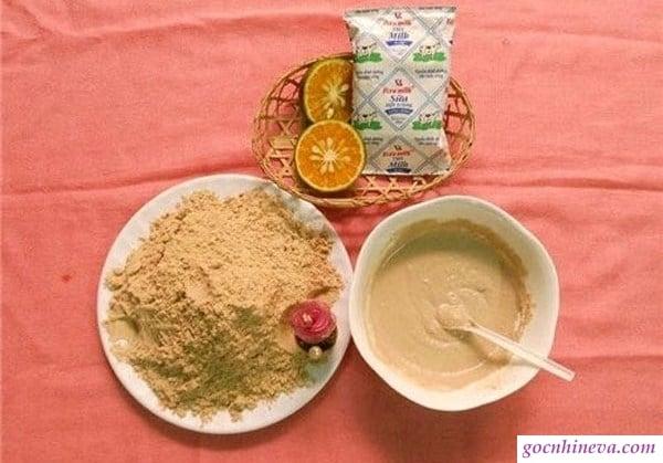Cám gạo và sữa tươi không đường: