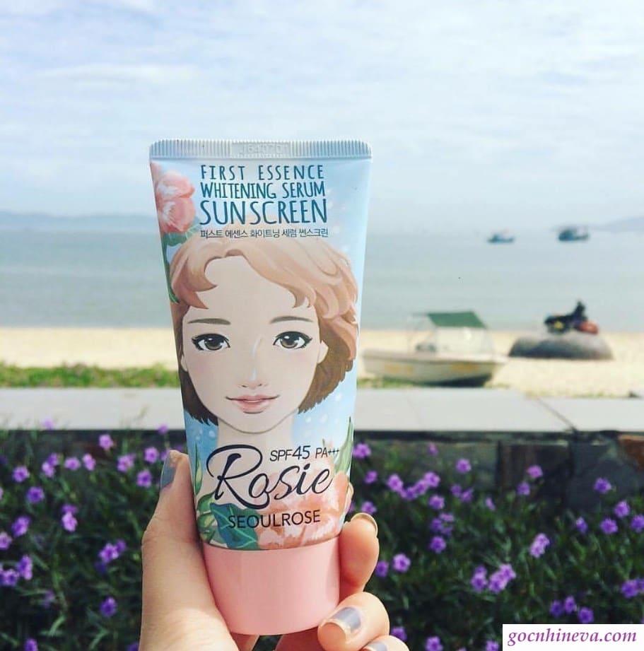 Seoulrose First Essence Whitening Serum Sunscreen SPF45 PA+++