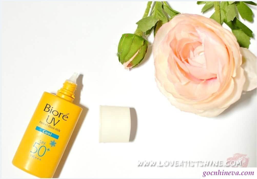 Kem chống nắng Bioré UV Perfect Block Milk Cool SPF 50+ PA+++