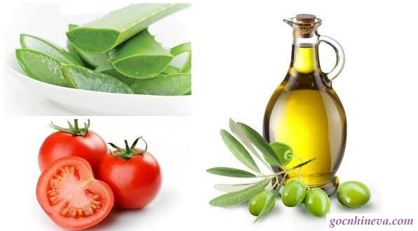 Mặt nạ cà chua,, lô hội và tinh dầu oliu