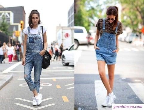 mix giày snacker với quần jean