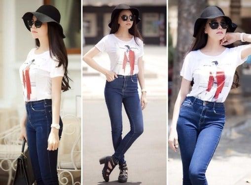 quần jean với áo phông