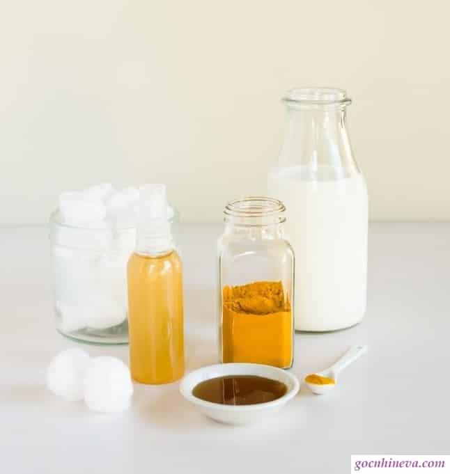 nghệ tươi, mật ong, sữa tươi không đường