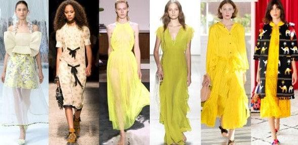 xu hướng áo váy màu vàng