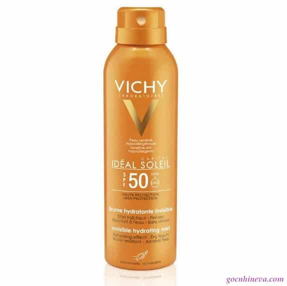 Vichy Ideal Soleil Invisible Hydrating Mist Dry Touch SPF 50 thích hợp cho mọi loại da