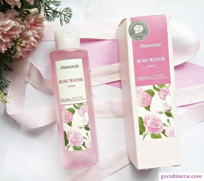 Mamonde Rose Water Toner hơn 90% nước hoa hồng tự nhiên, an toàn, hiệu quả