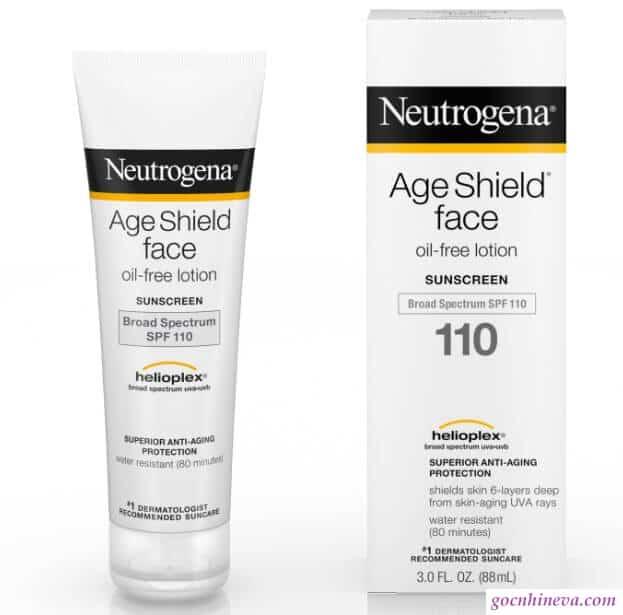 Netrogena Age Shield Face Oil-Free Lotion Suncreen Broad Spectrum SPF 110 chống nắng dưỡng ẩm làn da