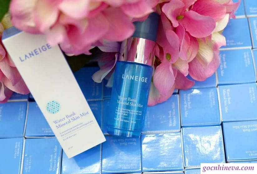 Laneige Water Bank Mineral Skin Mist dưỡng ẩm cho làn da khô