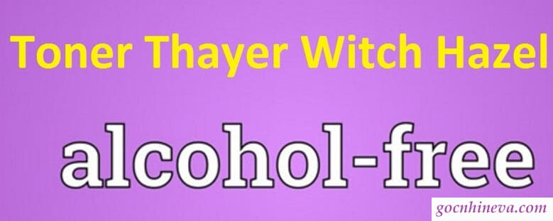 Thayer Rose Pental Witch Hazel không cồn không chất độc hại
