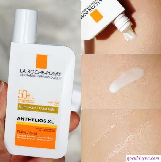 Anthelios spf 50+ fluid ultra light thích hợp cho da thường và da khô