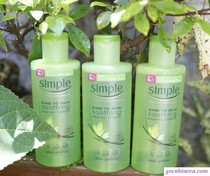 Nước hoa hồng Simple dưỡng ẩm, dịu mát da, nuôi dưỡng da