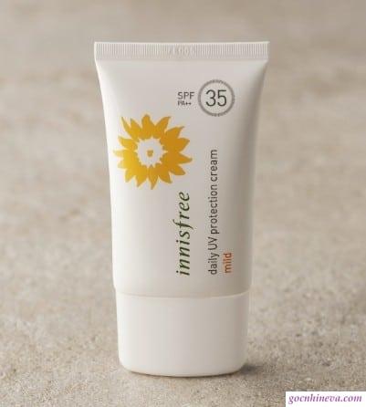 Các loại kem chống nắng của Innisfree và cách dùng cụ thể