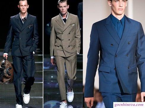chọn áo vest 2 hàng cúc