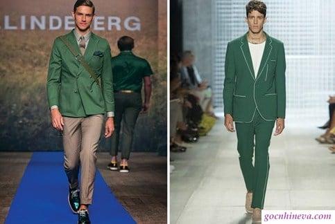 trang phục xanh lá