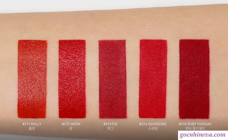 Son 3CE Red Recipe bảng màu đỏ cực chất, mê mẩn ngay từ lần sử dụng đầu tiên