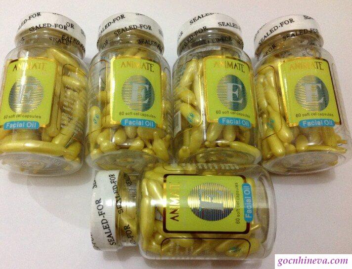 Serum Vitamin E Animate chứa các thành phần tự nhiên an toàn, hiệu quả