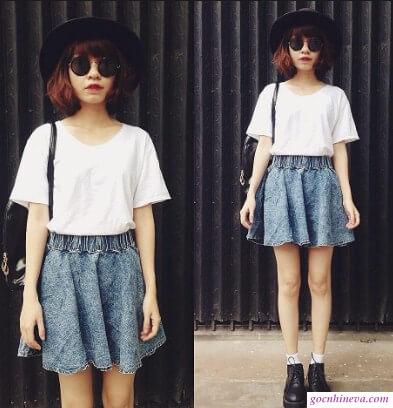 áo phông và váy ngắn