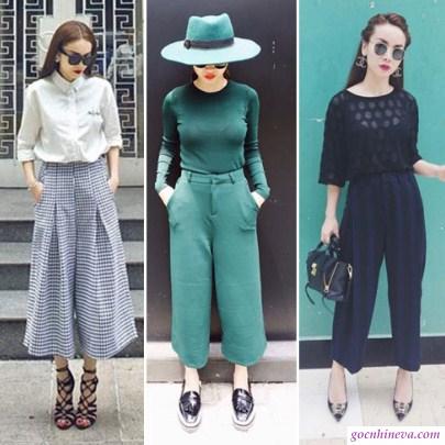quần culottes đơn giản dễ mặc