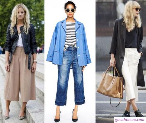 quần culottes mặc quanh năm