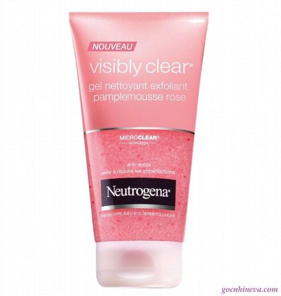 Neutrogena Visibly Clear Gel Nettoyyant Palplemousse Rose làm sạch, hỗ trị điều trị mụn hiệu quả