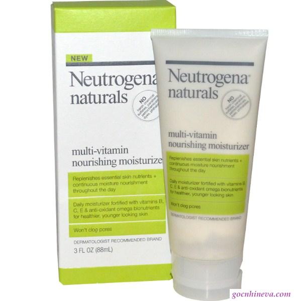 kem dưỡng ẩm Neutrogena Naturals Multi – Vitamin Nourishing Moisturizer an toàn cho da, dưỡng ẩm hiệu quả, giá thành phải chăng