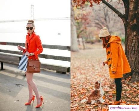 cách phối giày màu cam