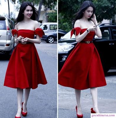 phối giày màu đỏ