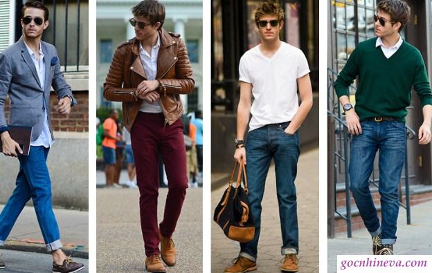 phối giày nam với áo len