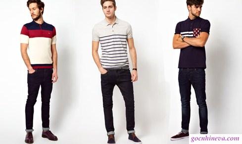 phối quần jean và áo polo