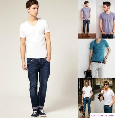 phối quần jean và áo pull