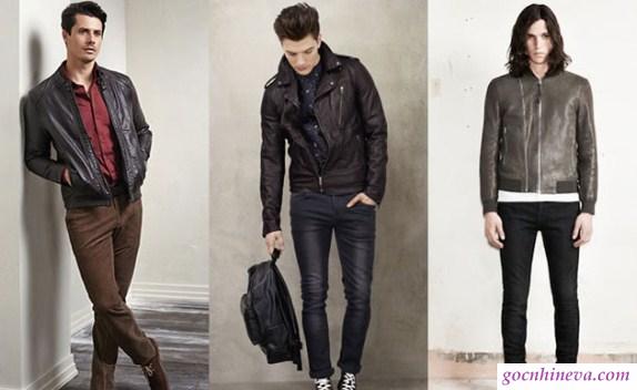 quần jean và áo da