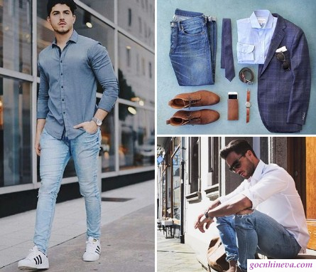 quần jean và áo denim