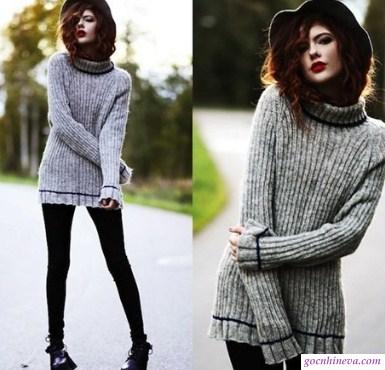 áo len và boot ngắn