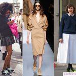kết hợp váy với giày snacker
