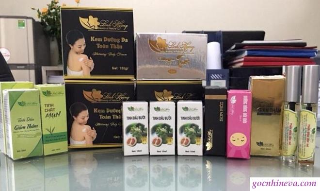 Các sản phẩm của mỹ phẩm Linh Hương
