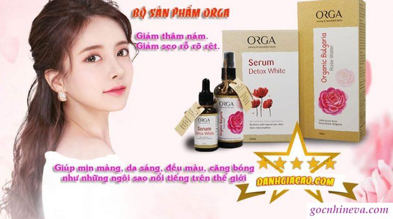 sản phẩm dưỡng da Orga