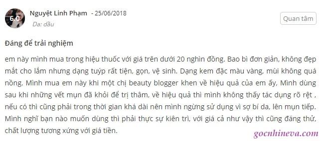 review Kem trị mụn E100