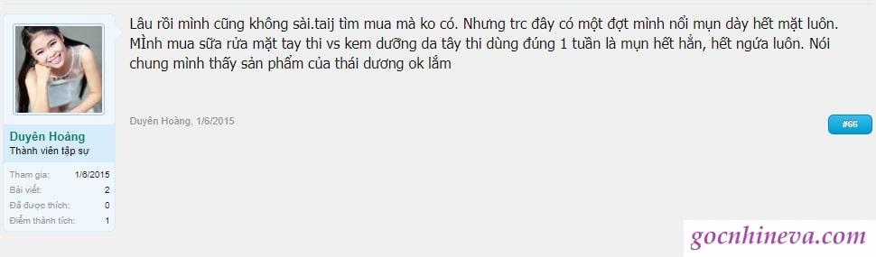 đánh giá Mỹ phẩm Thái Dương có tốt không