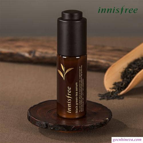Black green tea serum